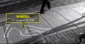 """Captura de pantalla del video de la APP """"Aquí"""" creada para AI Venezuela para exigir un control de las armas y balas en Venezuela"""